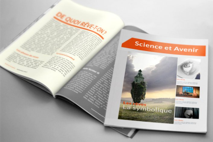 mockup magazine science avenir reves designj