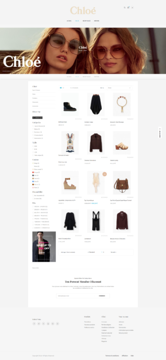 Boutique chloe designj categories robes prestashop identité webdesign